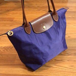 "Longchamp Le Pliage ""Shopping"" Nylon Tote Bag"